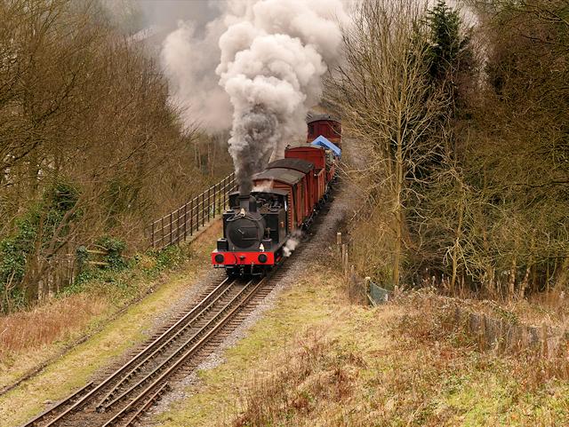 Steam Train Crossing Brooksbottoms Viaduct