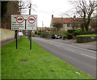 ST6976 : Weight restrictions sign, Shortwood Road, Pucklechurch by Jaggery