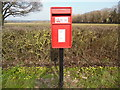 TQ9240 : New Post Box in Pluckley Road, Bethersden by David Hillas