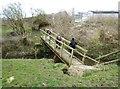 SJ7782 : Footbridge over Mobberley Brook by Anthony O'Neil