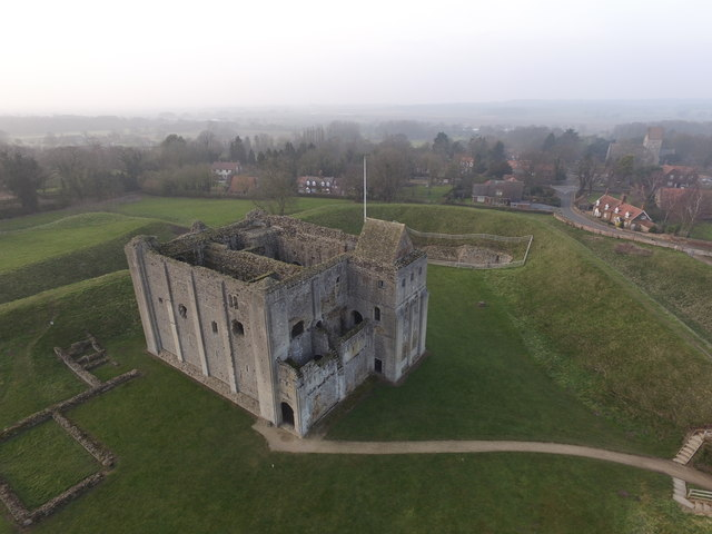 A misty Castle Rising