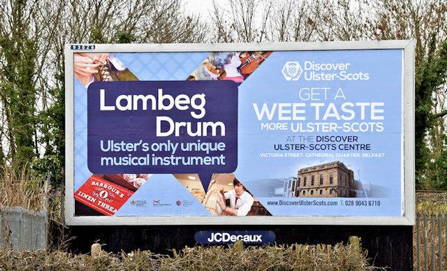 Lambeg drum poster, Lambeg/Hilden (March 2016)