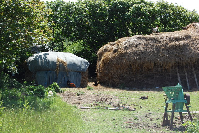 Haystack and farmyard at Cregneash, Isle of Man