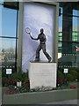 TQ2472 : Sculpture of Fred Perry, Wimbledon by Paul Gillett