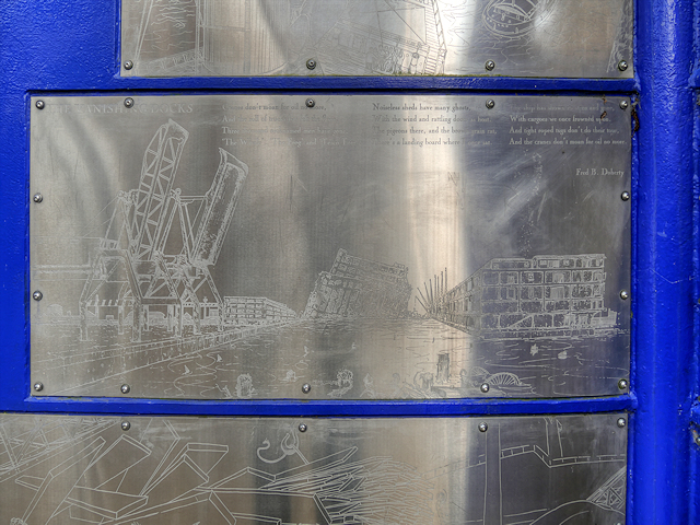Detail from Four Corners Sculpture at Salford Quays