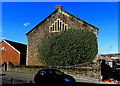 SN5100 : Overgrown south side of Grade II listed Calvaria Baptist Chapel, Llanelli by Jaggery