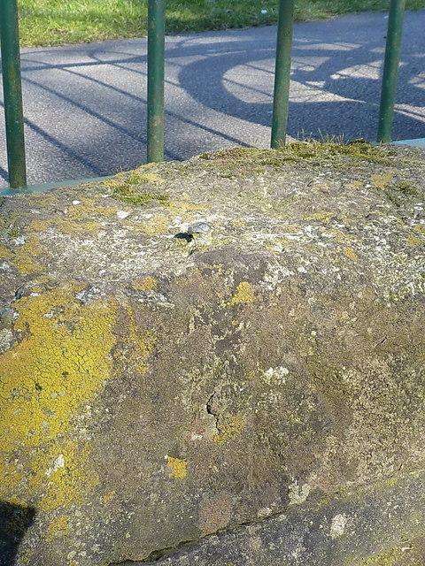 OS rivet - Meriden duckpond culvert