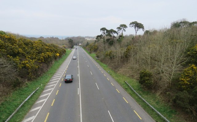 View from bridge over N28