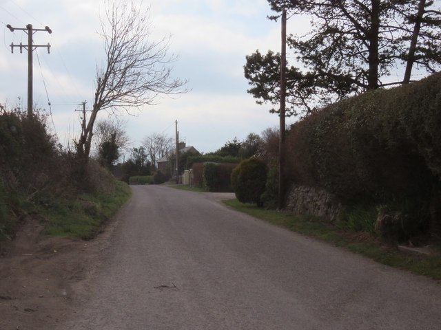Small rural residential area just west of Monkstown
