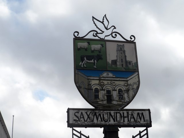 Village sign, Saxmundham