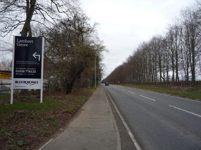 B1506 towards Newmarket