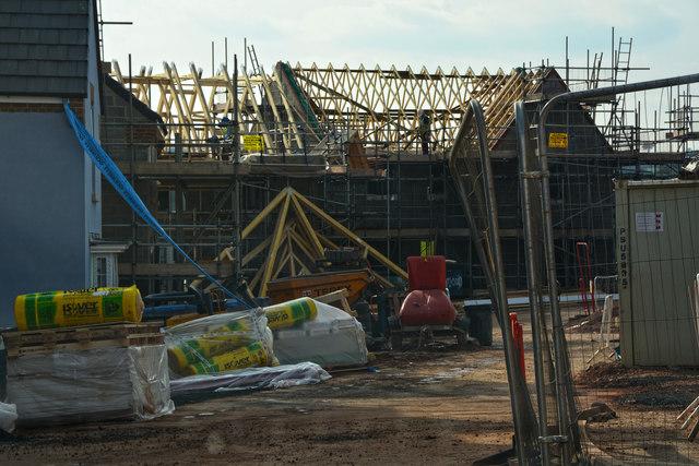 Cullompton : Swallow Way - Building Site