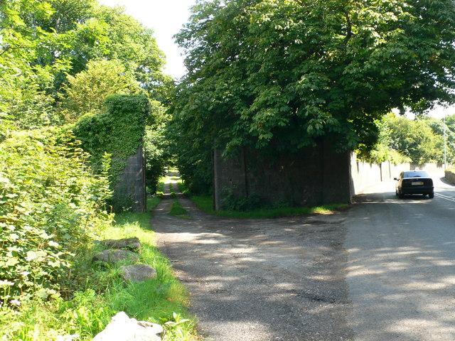 Back entrance to the Vaynol Estate