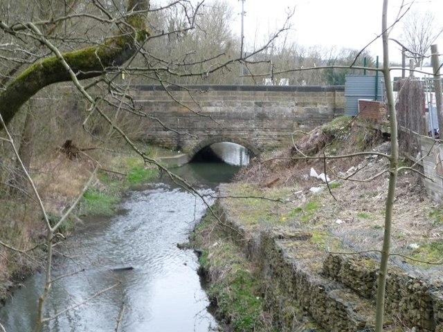 Looking upstream to Worsbrough Bridge