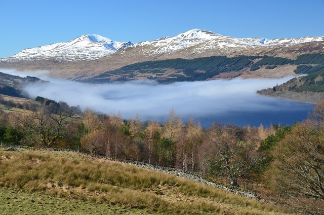 Mist clearing from Loch Tay