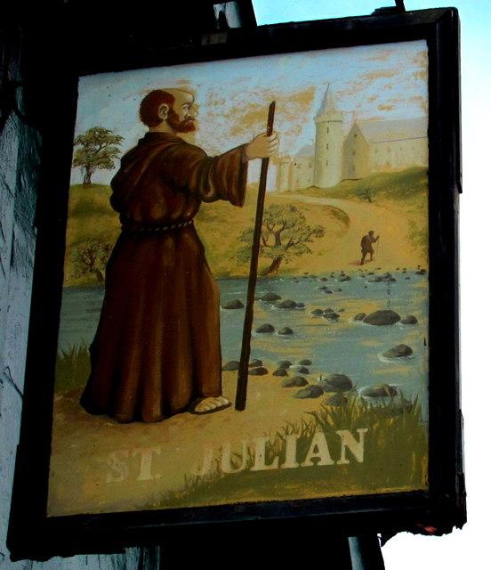 St Julian name sign, Newport