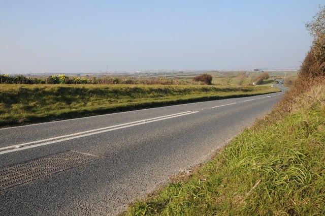 The A3075 north of Rejerrah