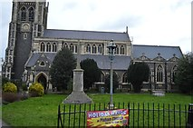 TQ1649 : Church of St Martin & War Memorial by N Chadwick