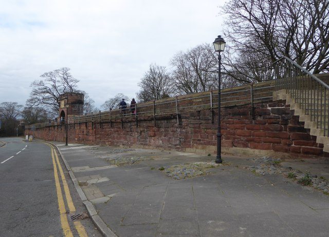 Chester City Walls on the appropriately named City Wall Street
