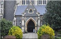 TQ1649 : Entrance porch, Church of St Martin by N Chadwick