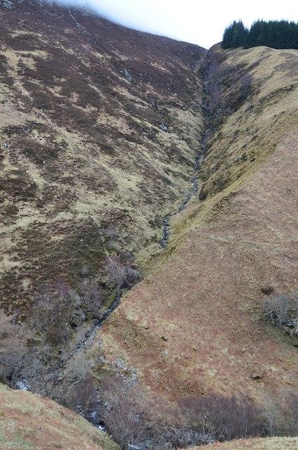 Stream gully, Sgurr an Uillt Tharsuinn