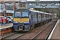 NS7457 : A Class 320 electric train at Motherwell railway station in North Lanarkshire  by Garry Cornes