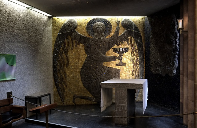 Mosaic panel, Chapel of Christ in Gethsemane, Coventry Cathedral