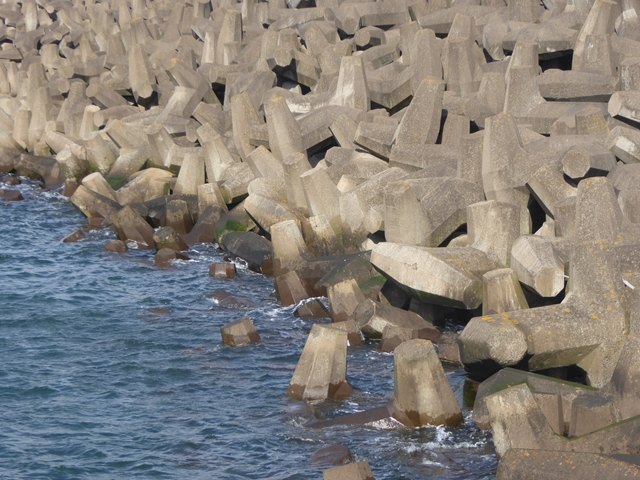 The breakwater at Torness (detail)