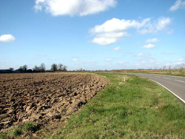 Ploughed field south of Stanfield Road