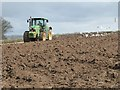 SW6744 : Ploughing behind Laity Farm by Philip Halling