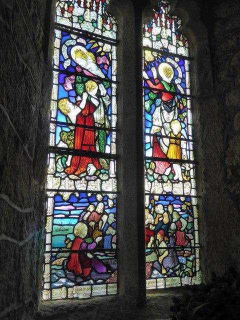 Memorial window in the chapel, St Michael's Mount