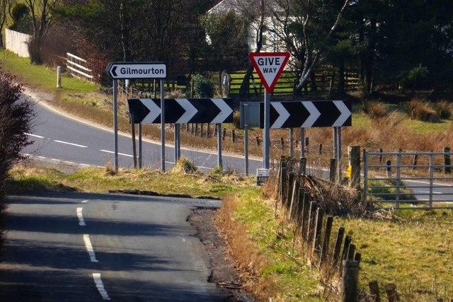 Road junction at Burnbank
