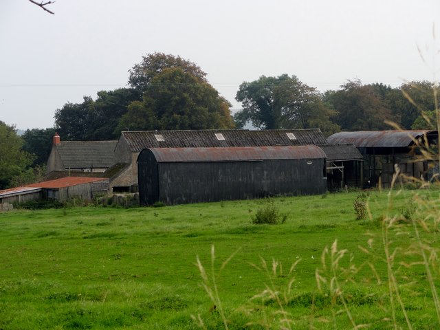 Little Greencroft farm from the west