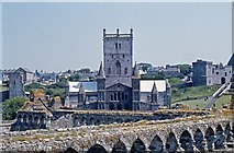 SM7525 : The cathedral from the Bishop's palace: St David's by Dylan Moore