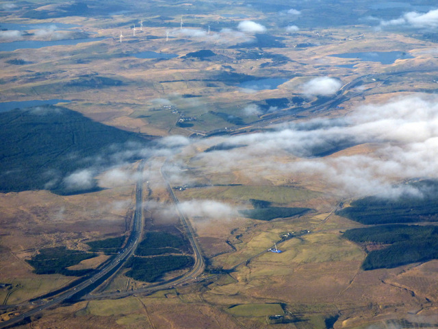 The M77 and A77 from the air