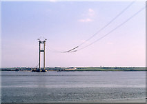 TA0224 : Humber Bridge under construction by Dylan Moore