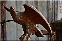 TG2834 : Trunch: St. Botolph's Church: The eagle lectern by Michael Garlick