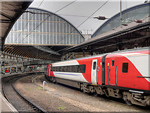 NZ2463 : East Coast Express Train at Newcastle Central Station by David Dixon