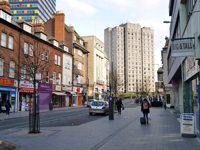 Granby Street and Elizabeth House, Leicester