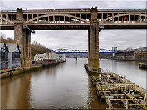 NZ2563 : River Tyne, High Level Bridge by David Dixon