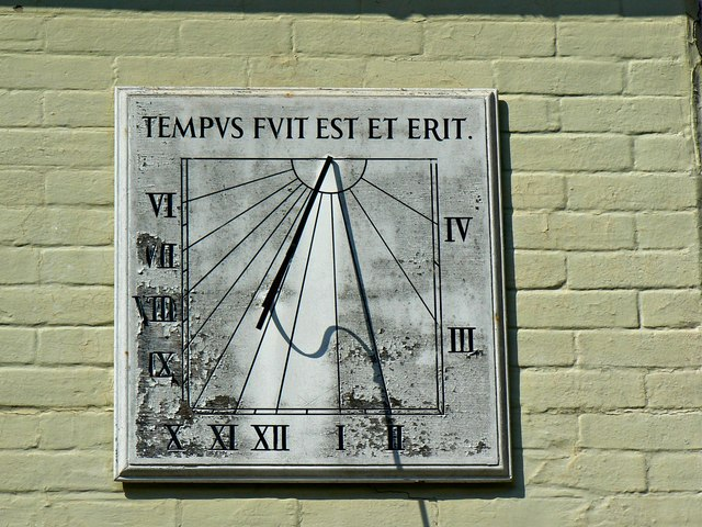 Sundial 'Sundial Cottage' Church Lane, Christchurch