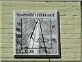 SZ1592 : Sundial 'Sundial Cottage' Church Lane, Christchurch by Brian Robert Marshall
