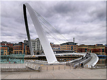 NZ2563 : Gateshead Millennium Bridge by David Dixon