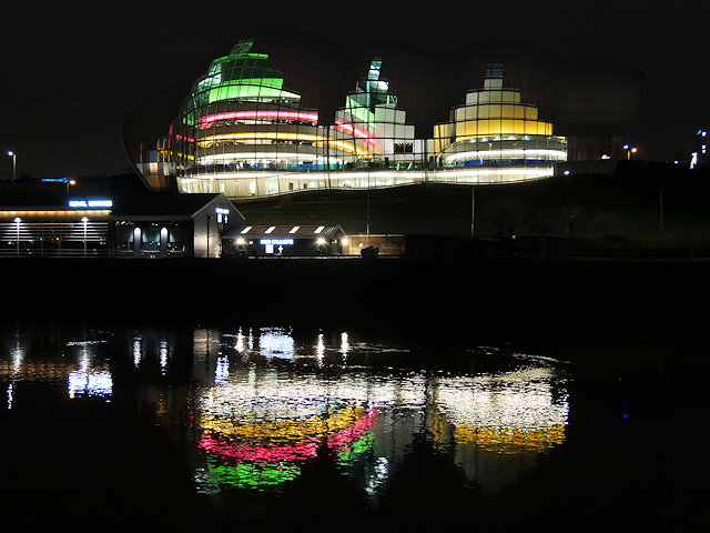 Gateshead Sage at Night