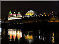 NZ2563 : The Sage at Gateshead (Night View) by David Dixon