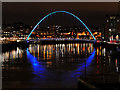 NZ2563 : Gateshead Millennium Bridge (Night View) by David Dixon