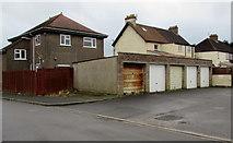ST6976 : Five lockup garages, Dennisworth,  Pucklechurch by Jaggery