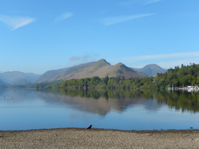 Cat Bells seen from the campsite in Keswick