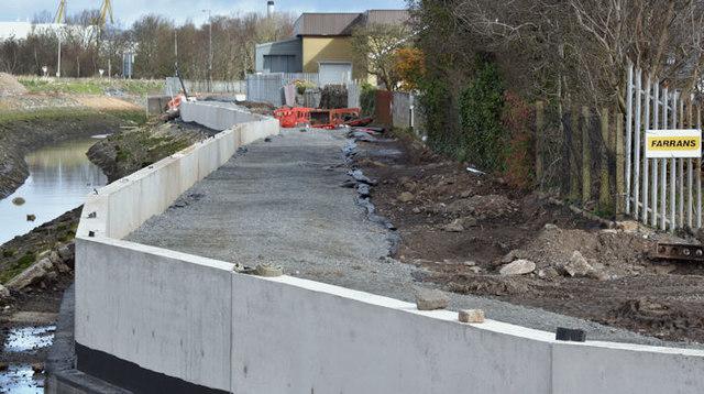 Connswater path works, Belfast - March 2016(1)