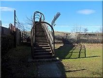 NS3980 : Footbridge over railway line by Lairich Rig